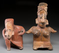Pre-Columbian:Ceramics, Two Jalisco Seated Females... (Total: 2 Items)