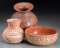 Pre-Columbian:Ceramics, Three West Mexican Painted Vessels ... (Total: 3 Items)