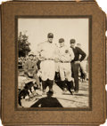 Baseball Collectibles:Photos, 1927 Lou Gehrig Large Cabinet Photograph from The Lou GehrigCollection....