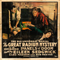 """Movie Posters:Serial, The Great Radium Mystery (Universal, 1919). Six Sheet (80"""" X 78"""") Chapter 11 -- """"Panels of Doom."""". ..."""