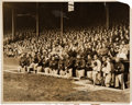 Baseball Collectibles:Photos, 1928 Yankee Stadium Opening Day Original News Photograph, PSA/DNAType 1 from The Lou Gehrig Collection....