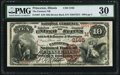 National Bank Notes:Illinois, Princeton, IL - $10 1882 Brown Back Fr. 487 The Farmers NB Ch. # (M)2165 PMG Very Fine 30.. ...