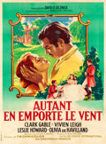 "Movie Posters:Academy Award Winners, Gone with the Wind (MGM, R-1954). French Grande (46.5"" X 62.5"")Roger Soubie Artwork.. ..."