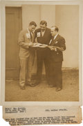 Baseball Collectibles:Photos, 1928 Babe Ruth & Lou Gehrig Original News Photograph, PSA/DNAType 1 from The Lou Gehrig Collection....