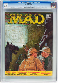 MAD #32 (EC, 1957) CGC VF- 7.5 Off-white pages