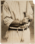 Baseball Collectibles:Photos, 1927 Lou Gehrig Hands Original News Photograph, PSA/DNA Type 1 from The Lou Gehrig Collection....