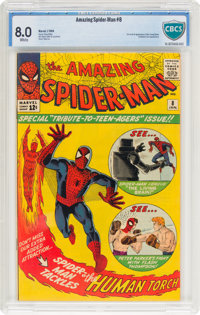 The Amazing Spider-Man #8 (Marvel, 1964) CBCS VF 8.0 White pages