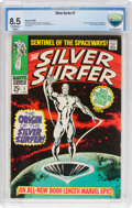 Silver Age (1956-1969):Superhero, The Silver Surfer #1 (Marvel, 1968) CBCS VF+ 8.5 Off-white to whitepages....