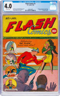 Golden Age (1938-1955):Superhero, Flash Comics #1 (DC, 1940) CGC VG 4.0 Off-white pages....