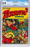Golden Age (1938-1955):Superhero, Terrific Comics #5 (Continental Magazines, 1944) CGC VG/FN 5.0 Cream to off-white pages....