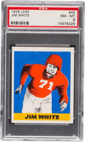 Football Cards:Singles (Pre-1950), 1948 Leaf Jim White #45 PSA NM-MT 8....