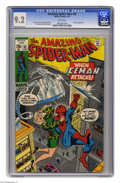 Bronze Age (1970-1979):Superhero, The Amazing Spider-Man #92 (Marvel, 1971) CGC NM- 9.2 White pages. Iceman appearance. Stan Lee story. Gil Kane and John Romi...