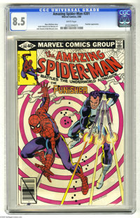 The Amazing Spider-Man #201 (Marvel, 1980) CGC VF+ 8.5 White pages. The Punisher appears. John Romita Sr. cover. Keith P...