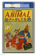 Golden Age (1938-1955):Funny Animal, Animal Fables #3 (EC, 1947) CGC FN- 5.5 White pages. Mort Leavcover. Overstreet 2005 FN 6.0 value = $75. CGC census 4/05: 2...