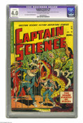 "Golden Age (1938-1955):Science Fiction, Captain Science #5 (Youthful Magazines, 1951) CGC Apparent VG 4.0 Moderate (A). Joe Orlando and Wally Wood art. CGC notes: ""..."
