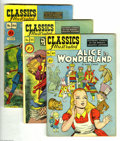Golden Age (1938-1955):Classics Illustrated, Classics Illustrated Group (Gilberton, 1948) Condition: AverageVG-. This group includes #49 (Alice in Wonderland), #53 (A C...(Total: 5 Comic Books Item)