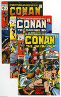 Bronze Age (1970-1979):Miscellaneous, Conan the Barbarian #2-20 Group (Marvel, 1970-72) Condition:Average FN/VF. This group contains issues #2, 3, 4, 5, 6, 7, 8,...(19 Comic Books)