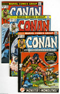 Bronze Age (1970-1979):Miscellaneous, Conan the Barbarian #21-45 Group (Marvel, 1972-74) Condition:Average FN/VF. This group contains issues #21, 22, 23, 24, 25,...(25 Comic Books)