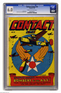 Golden Age (1938-1955):Adventure, Contact Comics #10 (Aviation Press, 1946) CGC FN 6.0 Cream to off-white pages. L. B. Cole cover. Rudy Palais and Al Hollings...