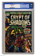 Bronze Age (1970-1979):Horror, Crypt of Shadows #2 (Marvel, 1973) CGC NM 9.4 White pages. JimStarlin and Bill Everett cover. Overstreet 2005 NM- 9.2 value...