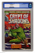 Bronze Age (1970-1979):Horror, Crypt of Shadows #5 (Marvel, 1973) CGC NM+ 9.6 Off-white to whitepages. Overstreet 2005 NM- 9.2 value = $16. CGC census 4/0...