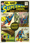 Silver Age (1956-1969):Superhero, 80 Page Giant #1 Superman Annual (DC, 1964) Condition: VG. Curt Swan cover. Overstreet 2005 VG 4.0 value = $82....