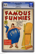 Golden Age (1938-1955):Miscellaneous, Famous Funnies #78 File Copy (Eastern Color, 1941) CGC VF 8.0 Cream to off-white pages. Jack Kirby art. Overstreet 2005 VF 8...