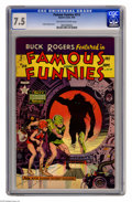 Golden Age (1938-1955):Science Fiction, Famous Funnies #213 (Eastern Color, 1954) CGC VF- 7.5 Off-white towhite pages. Frank Frazetta cover. Overstreet 2005 VF 8.0...