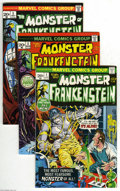 Bronze Age (1970-1979):Horror, Frankenstein #1-13 Group (Marvel, 1973-74) Condition: AverageVG/FN. This group includes # 1, 2, 3, 4, 5, 6, 7, 8, 9, 10, 11...(13 Comic Books)
