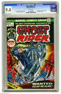 Bronze Age (1970-1979):Horror, Ghost Rider #1 (Marvel, 1973) CGC NM 9.4 White pages. Gil Kanecover. Tom Sutton and Syd Shores art. First appearance of Dai...