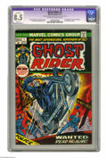 Bronze Age (1970-1979):Horror, Ghost Rider #1 (Marvel, 1973) CGC Apparent VF+ 8.5 Slight (P)Off-white to white pages. Gil Kane cover. Tom Sutton art. Firs...