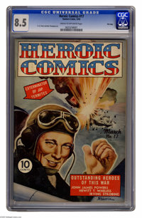 Heroic Comics #17 File Copy (Eastern Color, 1943) CGC VF+ 8.5 Cream to off-white pages. H. G. Peter and Ben Thompson art...