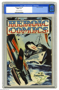 Heroic Comics #26 (Eastern Color, 1944) CGC FN/VF 7.0. Newt Alfred painted cover. Overstreet 2005 FN 6.0 value = $51; VF...