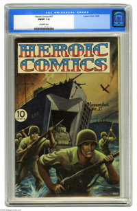Heroic Comics #27 (Eastern Color, 1944) CGC FN/VF 7.0 Off-white pages. Painted cover. Overstreet 2005 FN 6.0 value = $51...