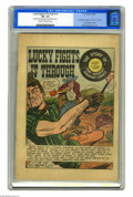 Golden Age (1938-1955):Western, Lucky Fights It Through! #nn (EC, 1949) CGC VF- 7.5 Cream tooff-white pages. Here's a rarity that any EC fan will want to p...
