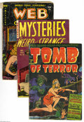 Golden Age (1938-1955):Horror, Miscellaneous Golden Age Horror Group (Various Publishers, 1952-54)Condition: Average GD/VG. This group includes Tomb of ... (3 ComicBooks)