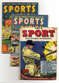 Golden Age (1938-1955):Miscellaneous, Miscellaneous Sports Comics Group (Various, 1942-56) Condition: Average GD+. This lot consists of Frank Merriwell at Yale ... (19 Comic Books)