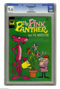 Bronze Age (1970-1979):Cartoon Character, Pink Panther #19 (Whitman, 1974) CGC NM+ 9.6 White pages.Overstreet 2005 NM- 9.2 value = $15. CGC census 4/05: 1 in 9.6,no...