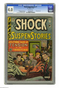 Golden Age (1938-1955):Horror, Shock SuspenStories #1 (EC, 1952) CGC VG 4.0 Off-white pages.Electrocution cover by Al Feldstein. Jack Kamen, Jack Davis, J...