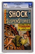 Golden Age (1938-1955):Horror, Shock SuspenStories #13 (EC, 1954) CGC FN+ 6.5 White pages.Featuring Frank Frazetta's only solo story for EC (seven pages)....