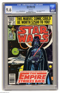 """Modern Age (1980-Present):Science Fiction, Star Wars #39 (Marvel, 1980) CGC NM+ 9.6 White pages. Part one of""""Empire Strikes Back"""" movie adaptation. Al Williamson and ..."""