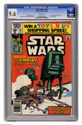 """Modern Age (1980-Present):Science Fiction, Star Wars #40 (Marvel, 1980) CGC NM+ 9.6 White pages. Part two of""""Empire Strikes Back"""" movie adaptation. Al Williamson and ..."""
