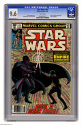 """Modern Age (1980-Present):Science Fiction, Star Wars #44 (Marvel, 1981) CGC NM+ 9.6 White pages. Part six of""""Empire Strikes Back"""" movie adaptation. Al Williamson and ..."""