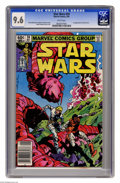 Modern Age (1980-Present):Science Fiction, Star Wars #59 (Marvel, 1982) CGC NM+ 9.6 White pages. First appearance of Orion Ferret. Walt Simonson cover and art. Overstr...