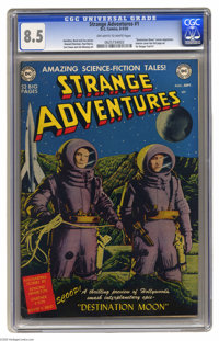 Strange Adventures #1 (DC, 1950) CGC VF+ 8.5 Off-white to white pages. This premiere issue of the long-running DC series...