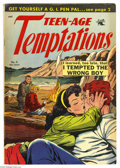 Golden Age (1938-1955):Romance, Teen-Age Temptations #9 (St. John, 1954) Condition: VG/FN. MattBaker cover and art. Overstreet 2005 VG 4.0 value = $50; FN ...