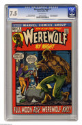 Bronze Age (1970-1979):Horror, Werewolf by Night #1 (Marvel, 1972) CGC VF- 7.5 Off-white pages.Story continued from Marvel Spotlight #4. Mike Ploog co...