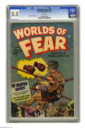 Golden Age (1938-1955):Horror, Worlds of Fear #8 (Fawcett, 1953) CGC FN- 5.5 White pages. SheldonMoldoff cover. Overstreet 2005 FN 6.0 value = $105. CGC c...