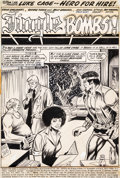 Original Comic Art:Splash Pages, George Tuska and Billy Graham Hero for Hire #7 Splash Page 1 Original Art (Marvel, 1973)....