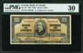Canadian Currency, Canada BC-27b $100 1937 PMG Very Fine 30.. ...